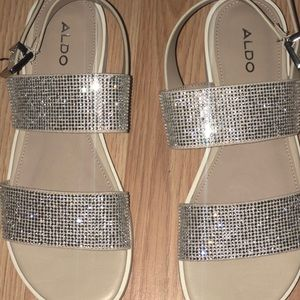 two strip jazzed sandals